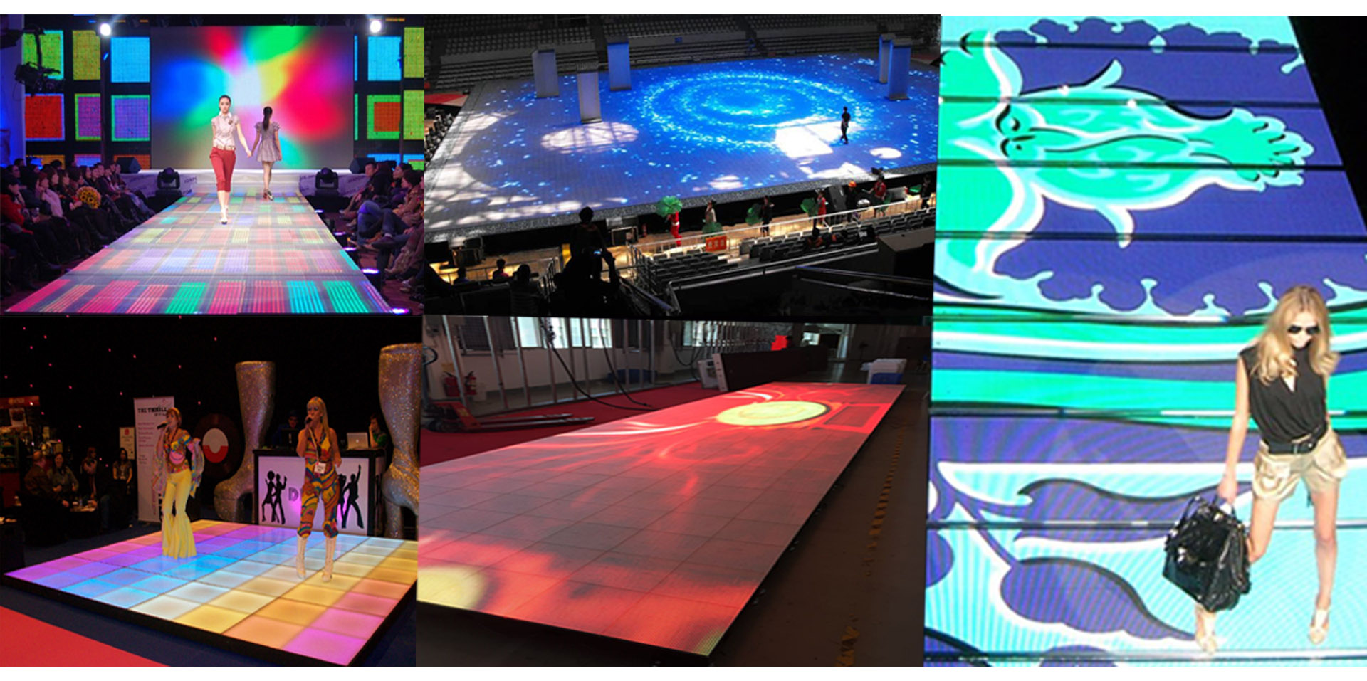 Floor LED display widely used in hall ,square, showroom, stage, bar, shopping malls, catwalks. It can be used for fixed installation and rental events.