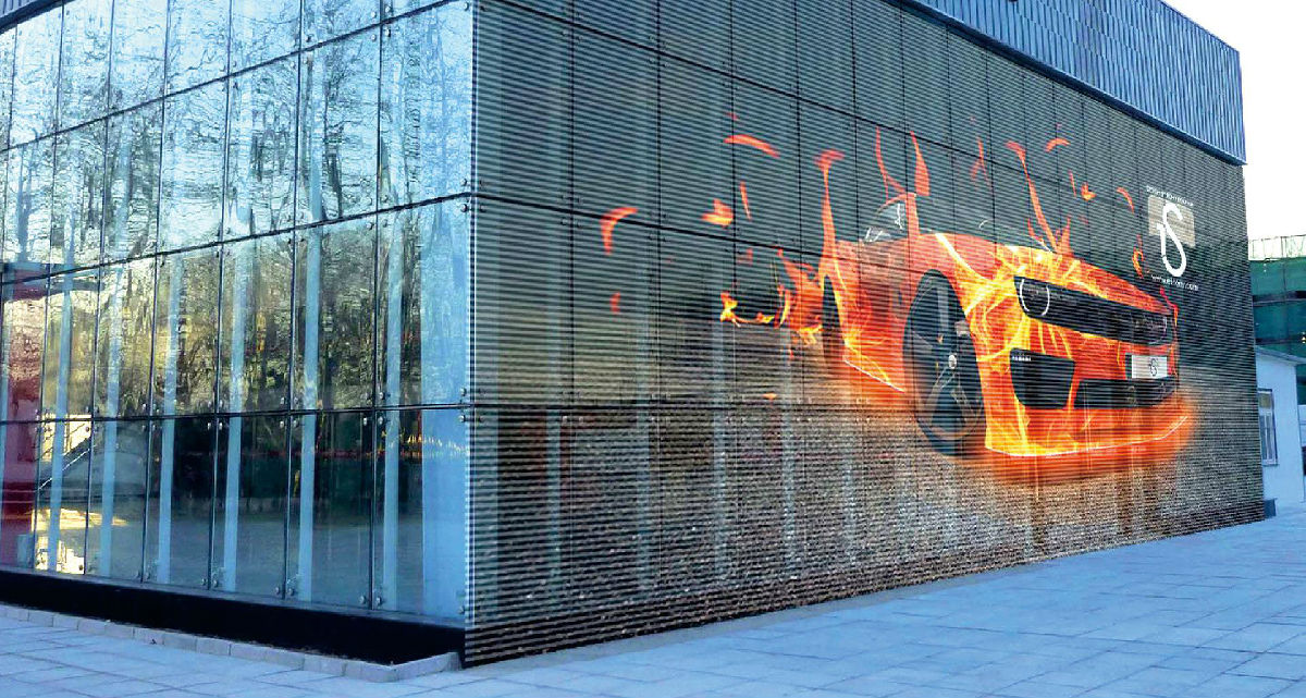 Concre Transparent Led Display Shines In Jiangsu Concreled